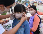 distribuzione mascherine myanmar campagna di sensibilizzazione ambiente